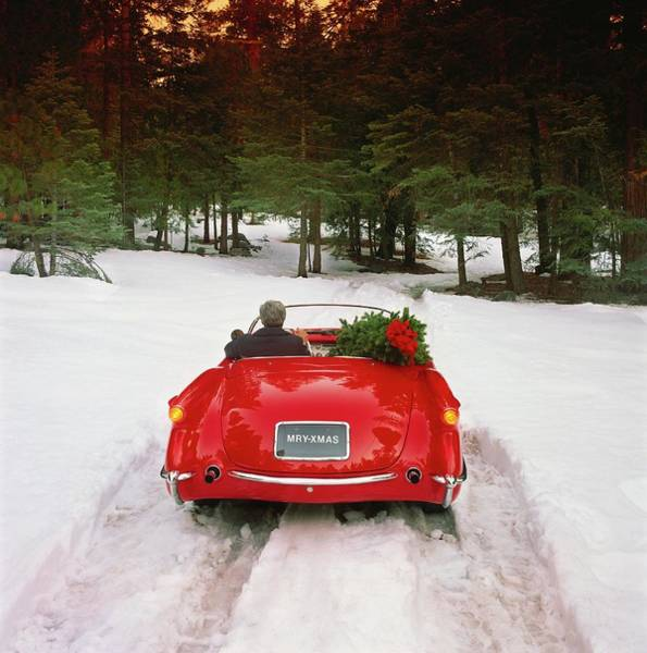 Wall Art - Photograph - Home For The Holidays With A Christmas by Car Culture