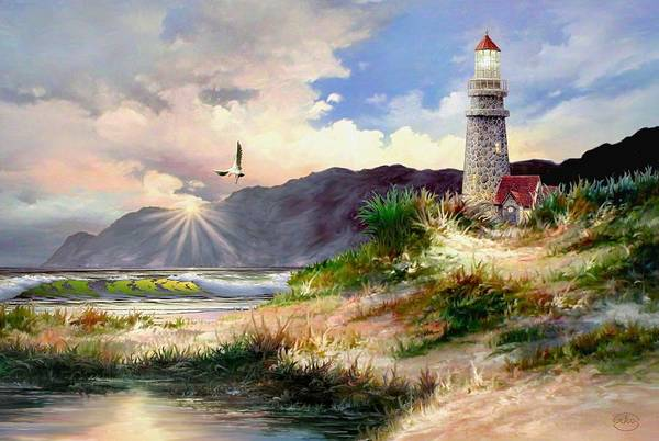 Cape May Painting - Home For The Night by Ron Chambers