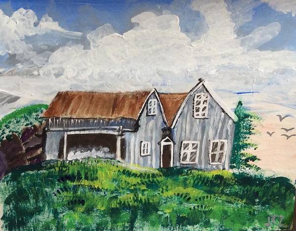 Wall Art - Painting - Home In The Country by Julie Thomas-Zucker