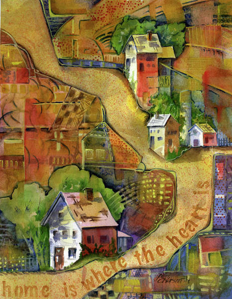 Painting - Home Is Where The Heart Is by Joan Chlarson