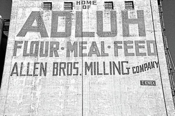 Photograph - Home Of Adluh Flour Meal Feed Mill Columbia Sc Black And White by Lisa Wooten
