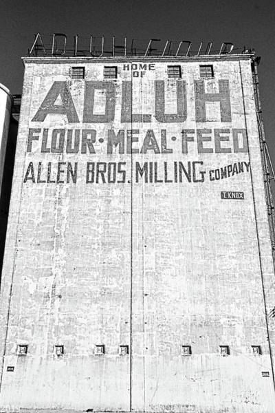 Photograph - Home Of Adluh Flour Meal Feed Mill Columbia South Carolina Black And White by Lisa Wooten