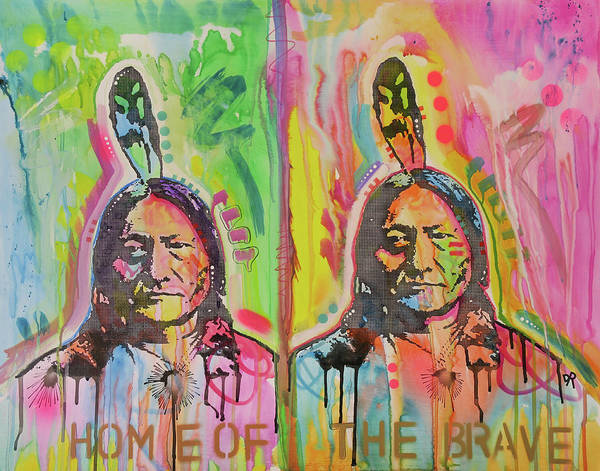 Brave Painting - Home Of The Brave by Dean Russo Art