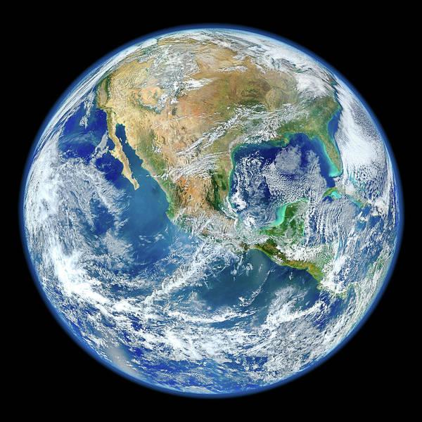Pale Blue Dot Wall Art - Photograph - Home Planet - Western Hemisphere - High Resolution by Nasa