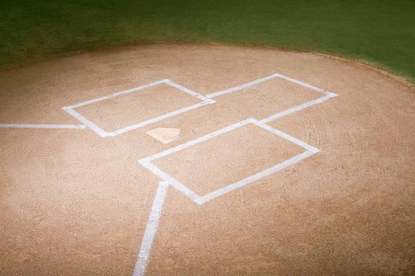 Team Sport Photograph - Home Plate Of Baseball Diamond by Whit Preston