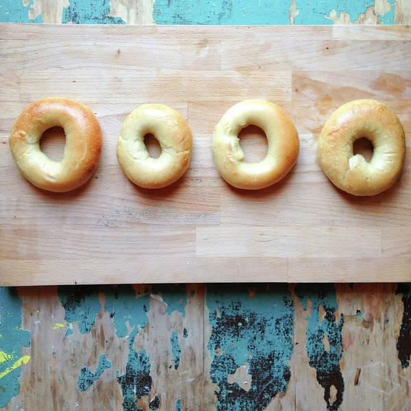 Wall Art - Photograph - Homemade Bagels by Sarah Palmer