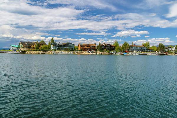 Lake Tahoe Photograph - Homes On The Lake, Lake Tahoe, Usa by Stuart Dee