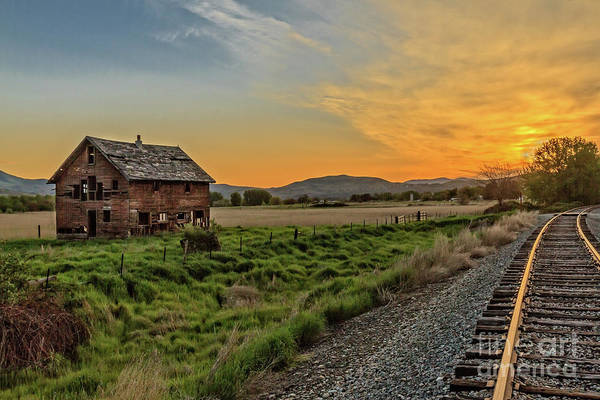 Wall Art - Photograph - Homestead By The Tracks by Robert Bales