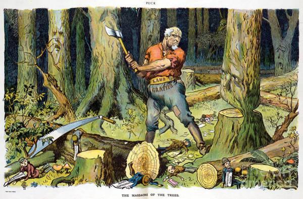 Photograph - Homesteader Cartoon, 1907 by Carl Hassman