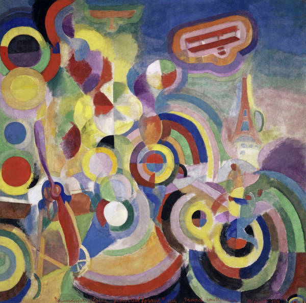 Wall Art - Painting - Hommage An Bleriot, 1914 by Robert Delaunay