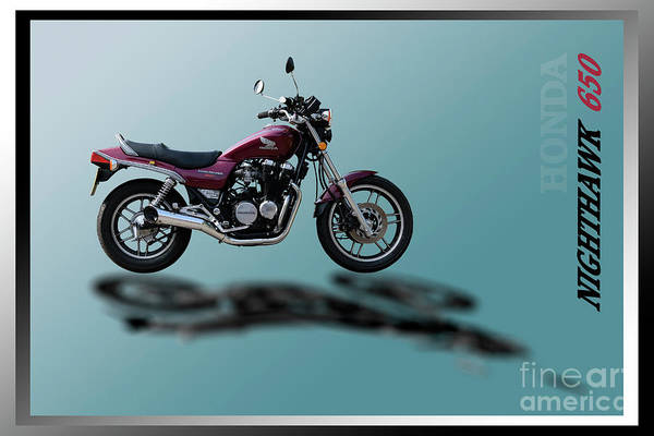 Wall Art - Mixed Media - Honda Nighthawk 650 by Wendy Wilton