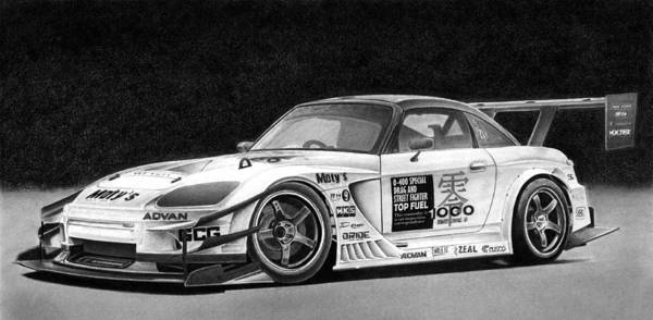 Wall Art - Drawing - Honda S2000 by Lyle Brown