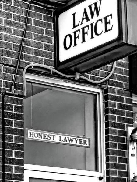 Wall Art - Photograph - Honest Lawyer - Dream On... Bw by Steve Harrington