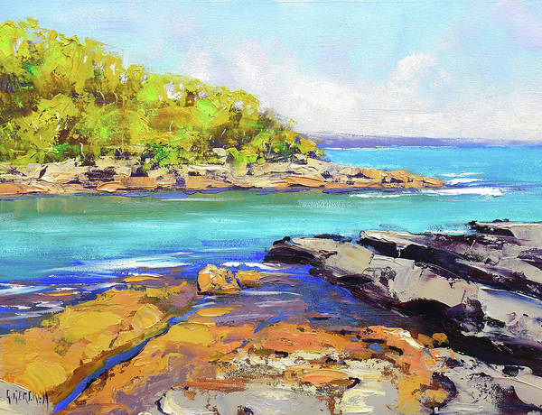 Wall Art - Painting - Honey Moon Bay Nsw by Graham Gercken