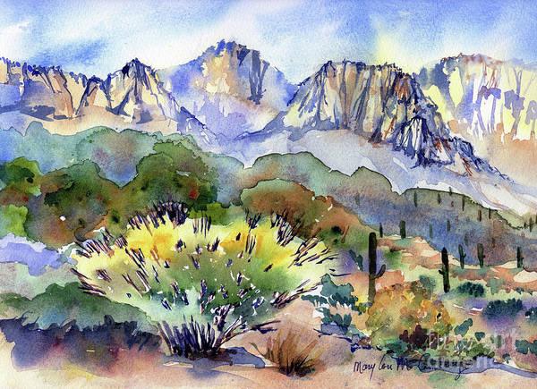 Wall Art - Painting - Honeybee Canyon by Mary Lou McCambridge
