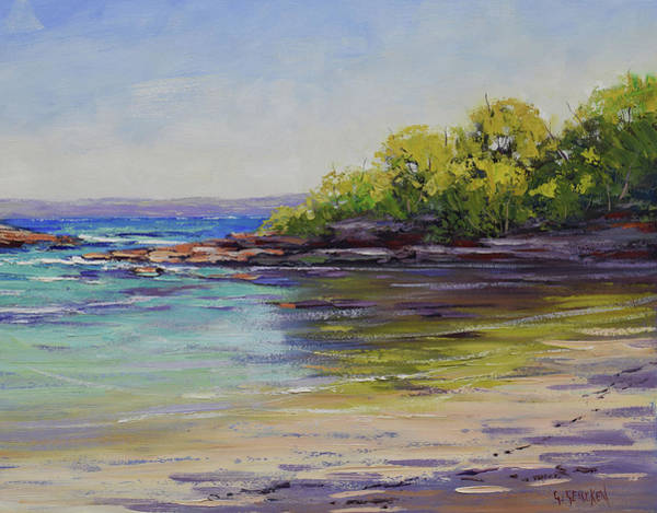 Wall Art - Painting - Honeymoon Bay  by Graham Gercken