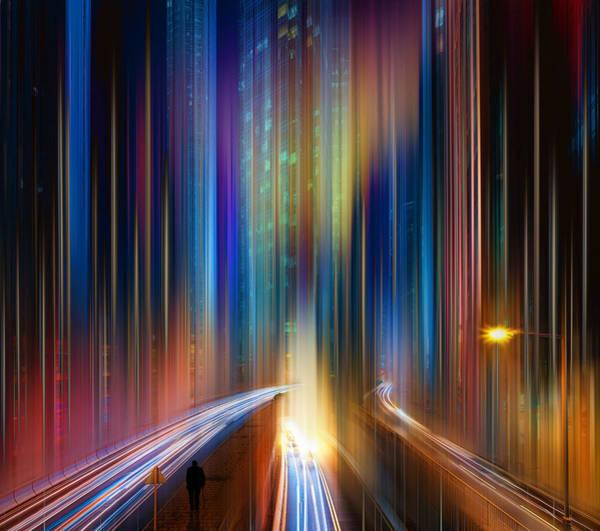 City Scape Digital Art - Hong Kong Abstract by Tim Palmer