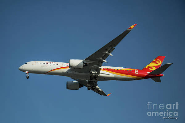 Photograph - Hong Kong Airlines Airbus A 350 Landing Los Angeles Airport Art by Reid Callaway