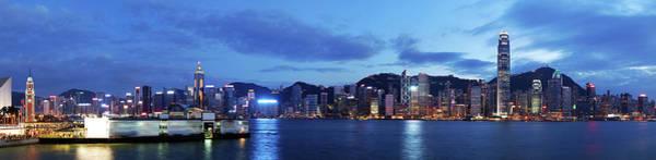 Wall Art - Photograph - Hong Kong And Kowloon At Night by Samxmeg