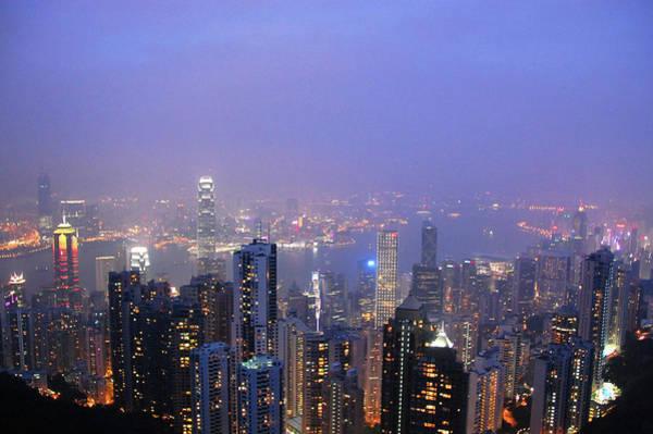 Wall Art - Photograph - Hong Kong At Blue Hour by Nurur Rahman