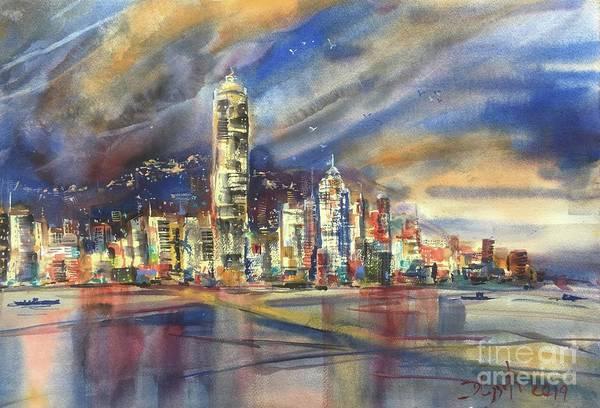 Wall Art - Painting - Hong Kong by Dieter Wystemp
