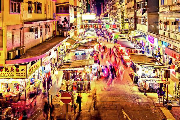 Wall Art - Photograph - Hong Kong Night Market by Andi Andreas