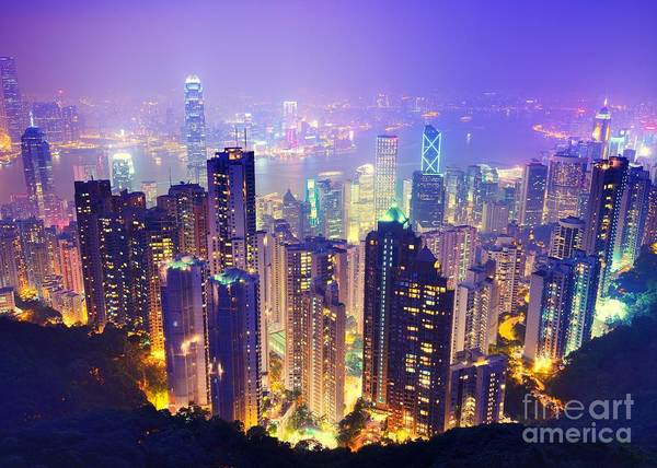 Wall Art - Photograph - Hong Kong Skyline by Sean Pavone