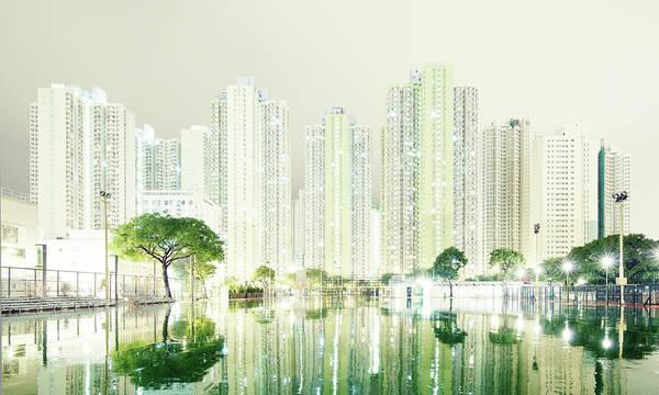 Railing Photograph - Hong Kong Skyline by Spreephoto.de