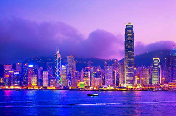 Victoria Tower Wall Art - Photograph - Hong Kong Skyline, Victoria Harbour by Scott E Barbour