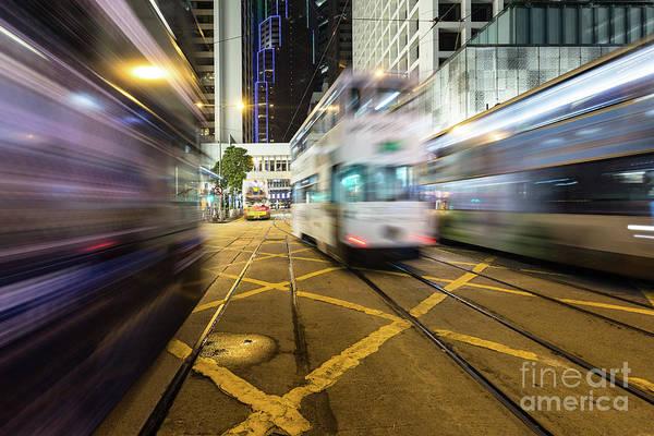 Photograph - Hong Kong Trams by Didier Marti