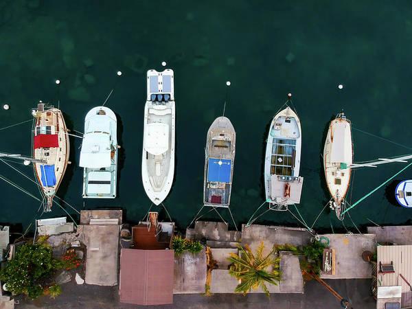 Photograph - Honokohau Harbor Boats by Christopher Johnson