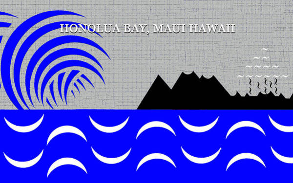 Wall Art - Digital Art - Honolua Bay Maui Hawaii Surfing by David Lee Thompson