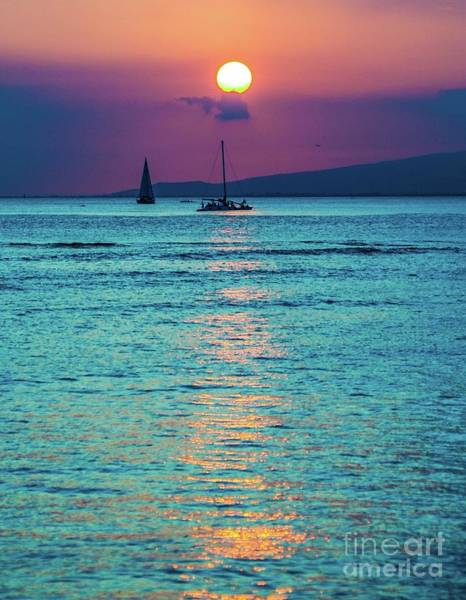Photograph - Honolulu Sun Setting by D Davila