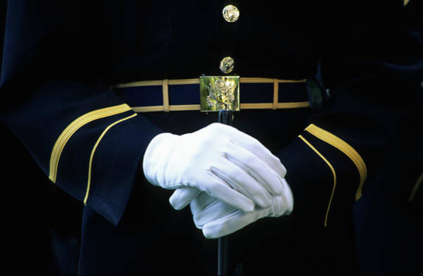 Honor Guard Photograph - Honor Guard Holding Rifle, Arlington by Hisham Ibrahim