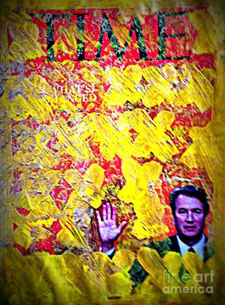 Kavanaugh Painting - Christine Made A Million. Honoring Time And Supreme Court Justice Kavanaugh Abstact Red And Yellow by Ricardo Richard W Linford