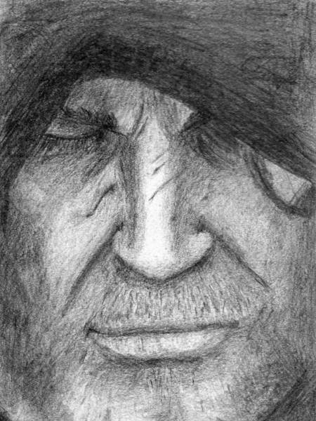 Drawing - Hooded Geralt by Luke Mitchell