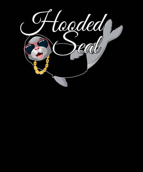 Harp Digital Art - Hooded Seal Funny Animal Pun Joke  by Jonathan Golding