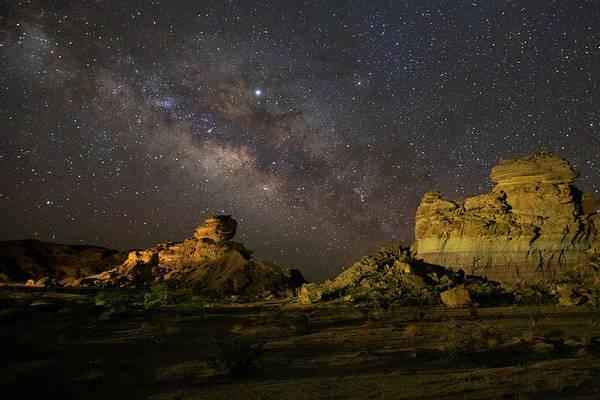 Photograph - Hoodoos Under The Milky Way Wall Art  by Harriet Feagin