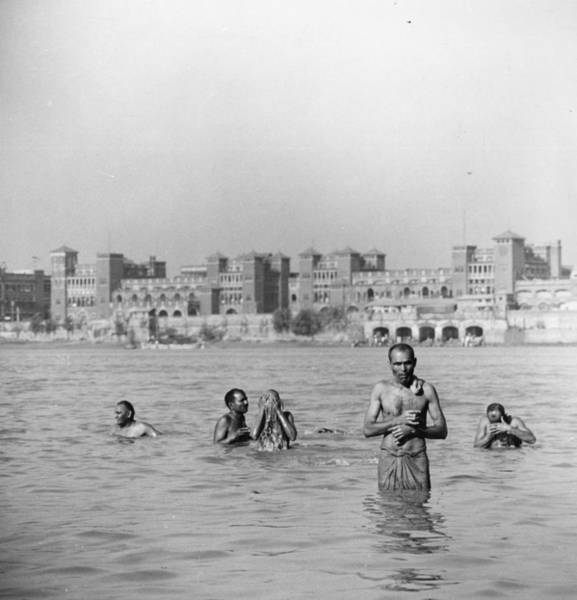 Kolkata Photograph - Hooghly Bathers by Three Lions