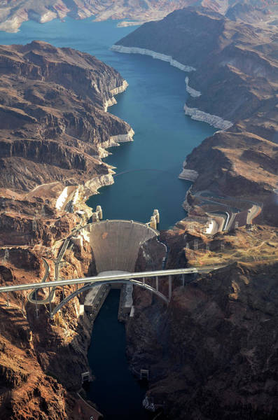 Wall Art - Photograph - Hoover Dam Aerial by Iwcrabbe
