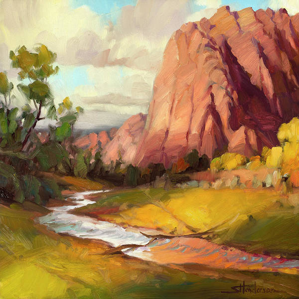 Painting - Hop Valley by Steve Henderson