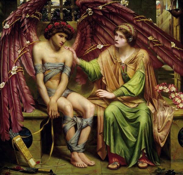 Gabriel Painting - Hope Comforting Love In Bondage by Sidney Harold Meteyard