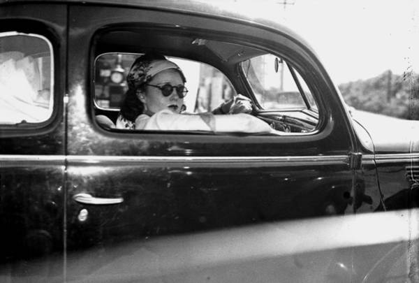 Hiding Photograph - Hope Dare Looks Out Car Window As She by New York Daily News Archive