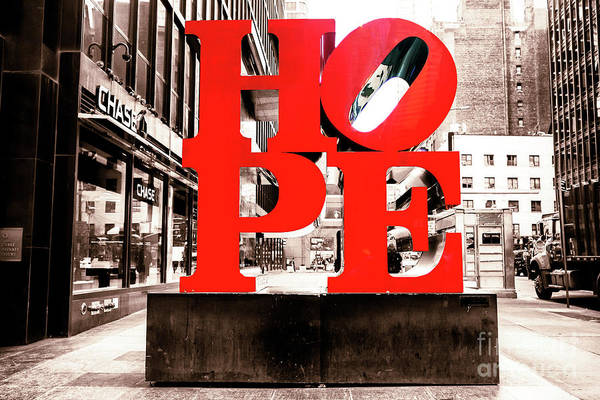 Photograph - Hope In New York City by John Rizzuto
