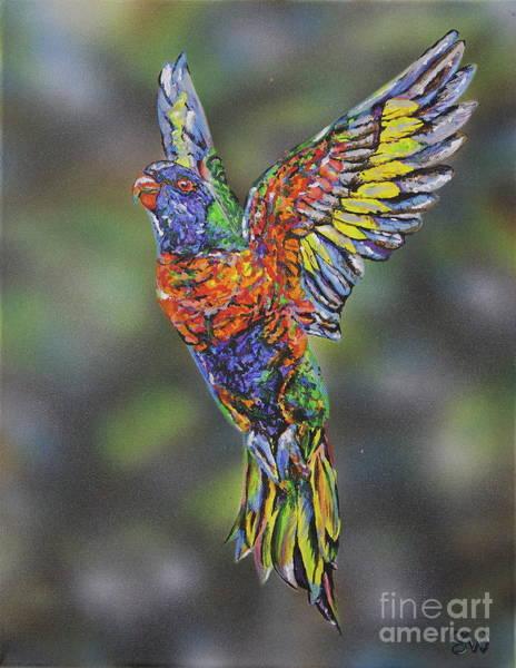 Wall Art - Painting - Hope Rainbow Lorikeet by Susan Willemse