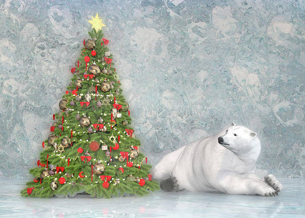 Wall Art - Digital Art - Hopeful Polar Bear by Betsy Knapp