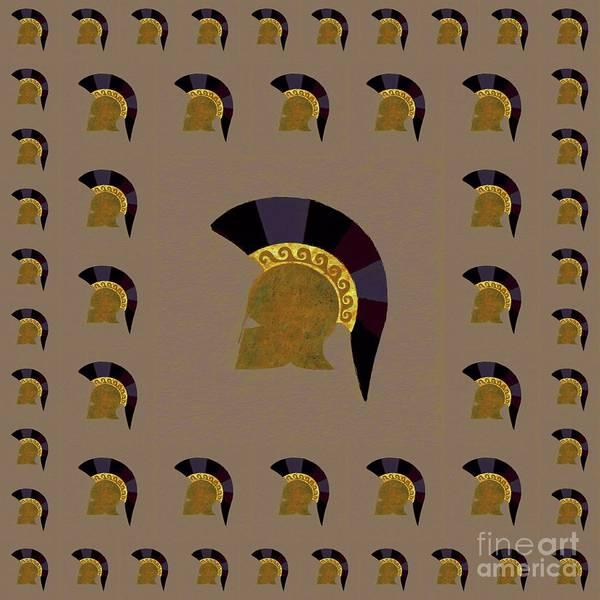 Wall Art - Painting - Hoplite Helmet by Pierre Blanchard