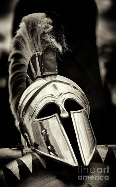 Photograph - Hoplite Helmet by Tim Gainey