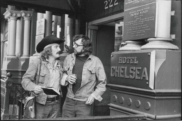 Scriptwriter Photograph - Hopper & Southern At The Chelsea Hotel by Fred W. McDarrah