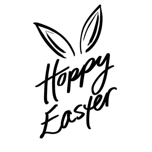 Wall Art - Digital Art - Hoppy Easter by Sd Graphics Studio